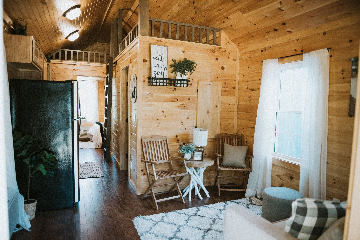 fully finished prefab cabin interior