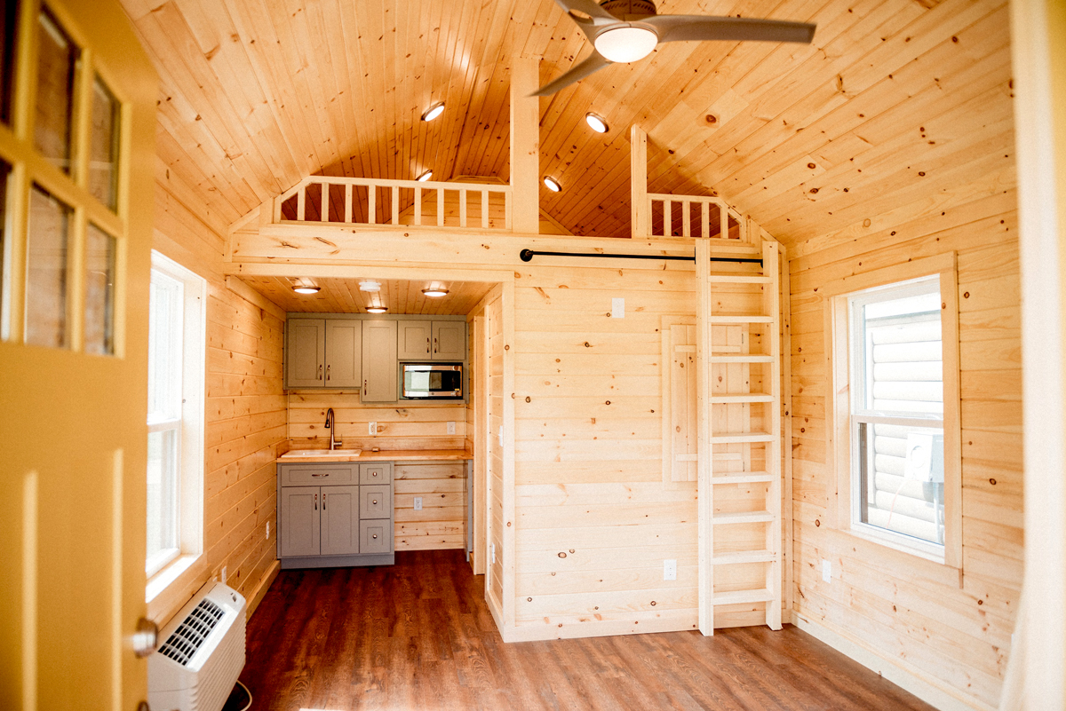 cabin construction finished