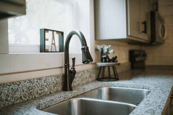 modular home sink and countertop